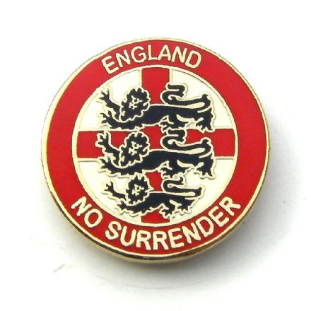 """No Surrender"" England Badge  - Red"